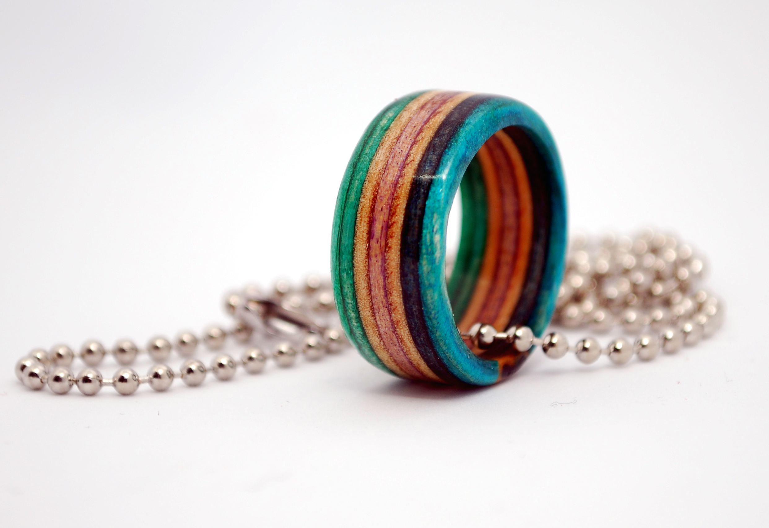 b7b7cb8ad80 Recycled Skate Ring + Necklace Chain - Recycled Skateboard Ring
