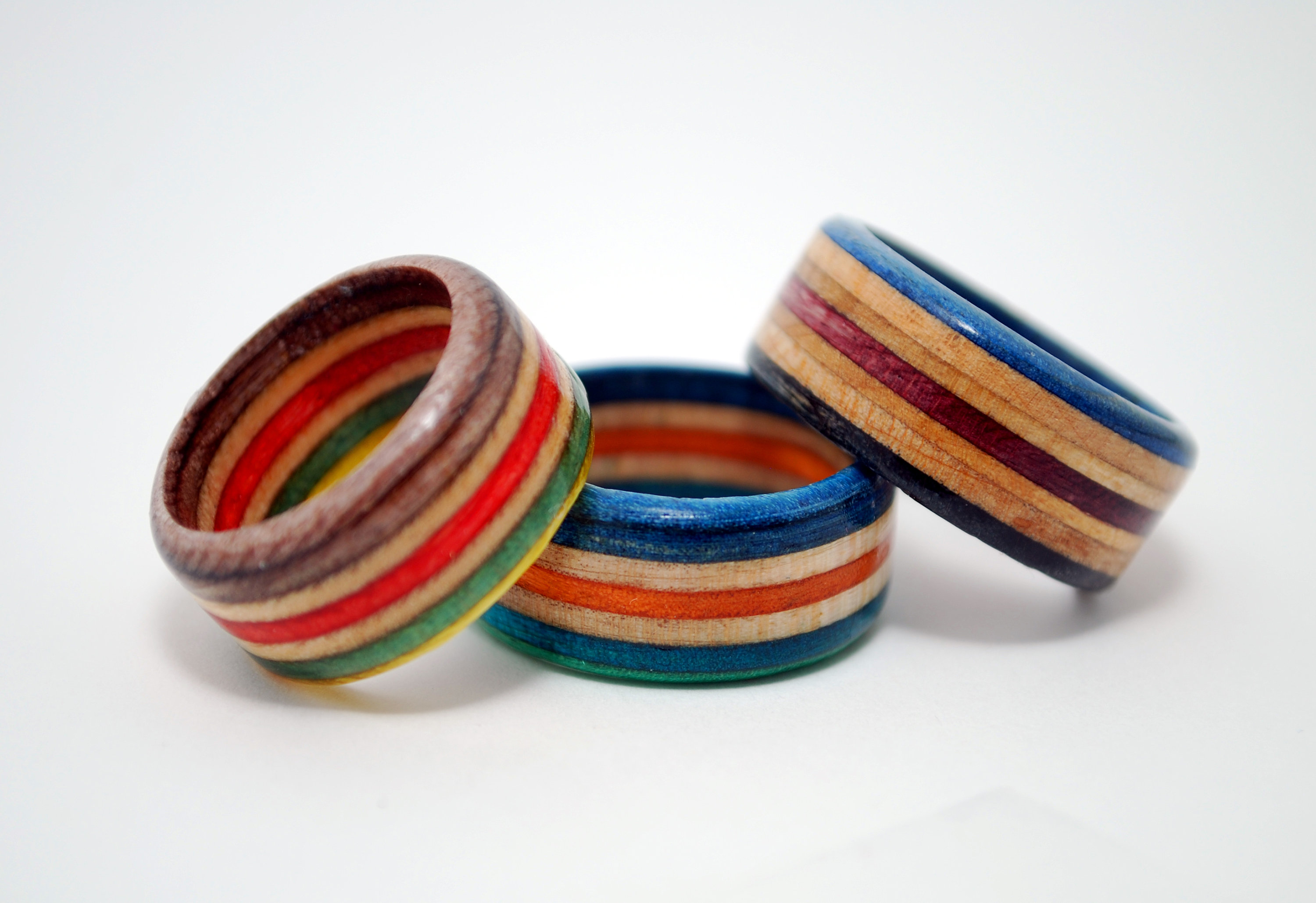 Skateboard Rings Recycled Skate Jewelry Decks