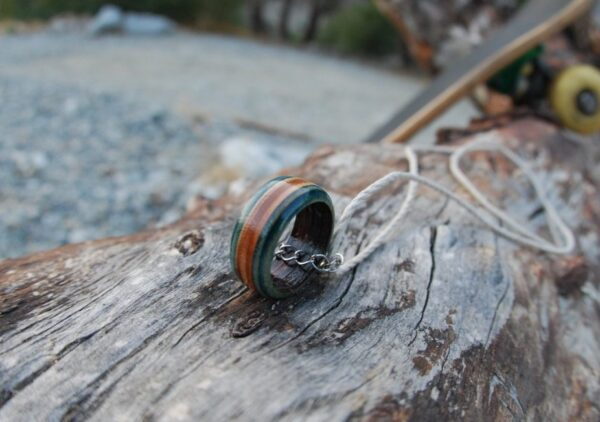 skateboarder ring, hemp, ring, necklace