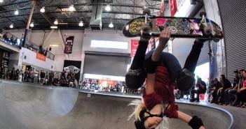 girl skateboarder, handplant, vans, combi