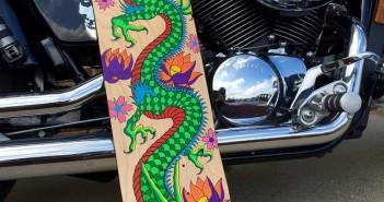 skate art, skateboard, artwork, grip tape, deck, painting