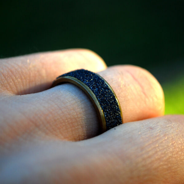 Gold Steel Grip Ring