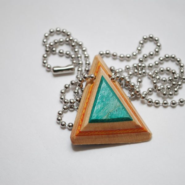 necklace aqua iris jewelry peach by triangle pendant bead necklaces seed elm