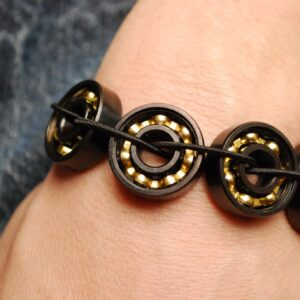 Black & Bronze Bearing Bracelet