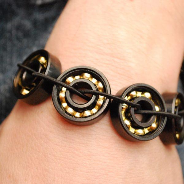 Black & Bronze Bearing Bracelet