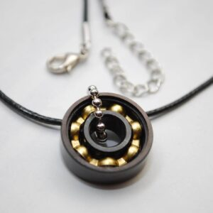 Black & Bronze Bearing Necklace