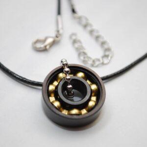 Black & Bronze Bearing Necklace