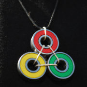 Rasta Necklace Black Cord
