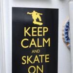 keep calm, skateboard, magnet, gift, skate