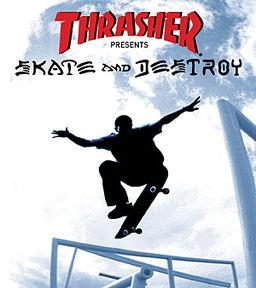 skate and destroy, thrasher, playstation, skateboarding