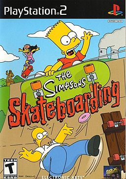 the simpsons, skateboarding, playstation