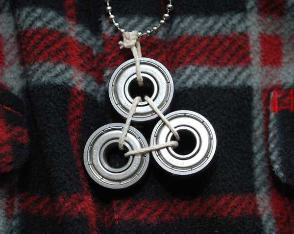 Triple Steel Bearing Necklace