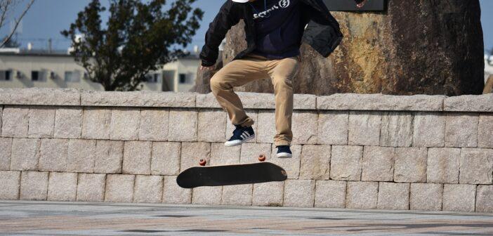 double kickflip, flip, skate, trick, skateboard