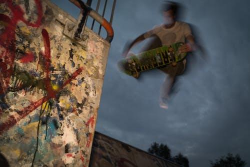 madonna, skateboard, grab