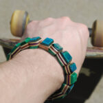recycled skateboard, skate, deck, boards, gift, bracelet