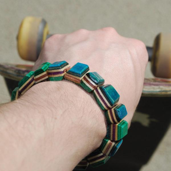 recycled skateboard, skate, deck, boards, gift, bracelet