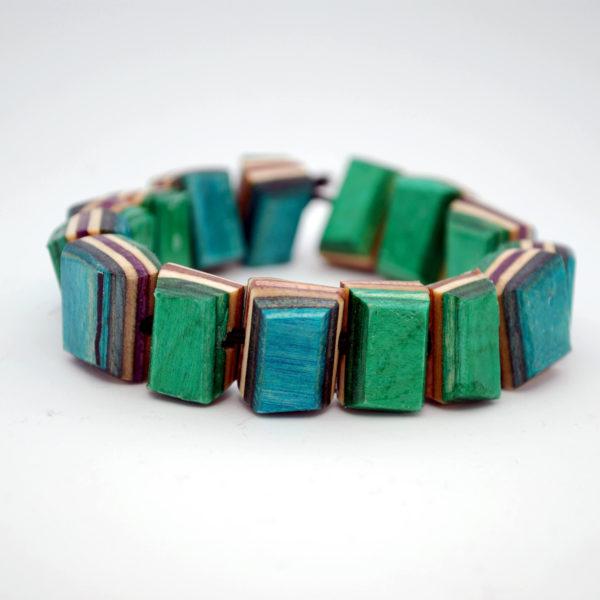 recycled skateboard, bracelet, jewelry, broken boards