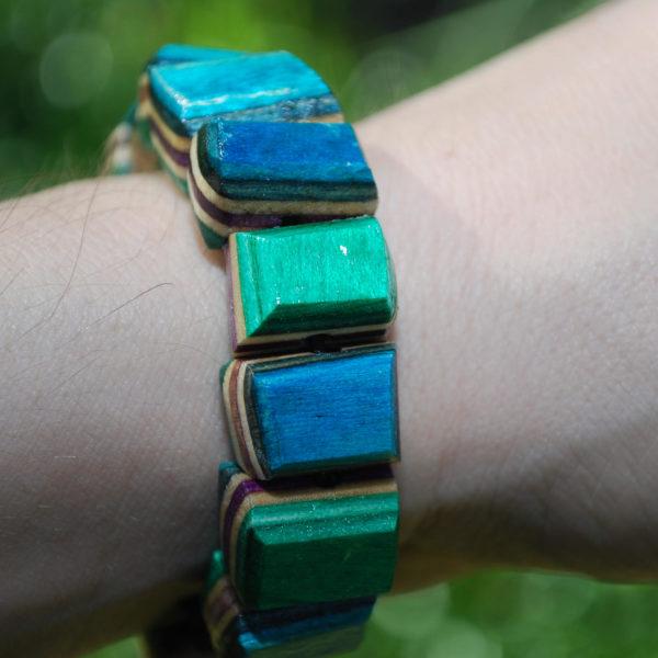recycled. skateboard, rings, jewelry, bracelet