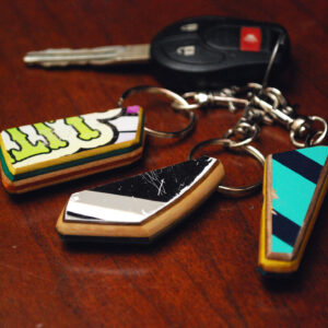key chain, skateboard, fun gift, recycled, upcycled, repurposed
