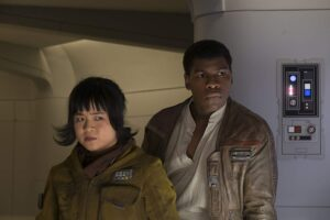 rose tico, finn, star wars, last jedi