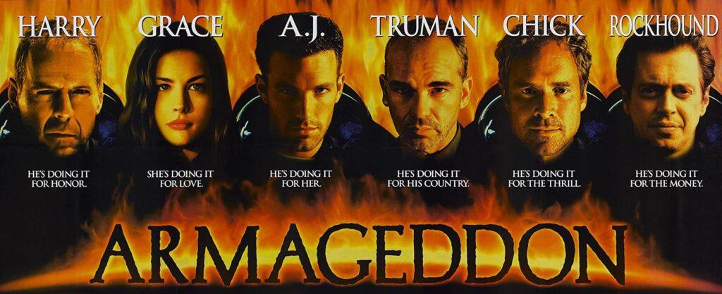 armageddon, movie, poster, 1998