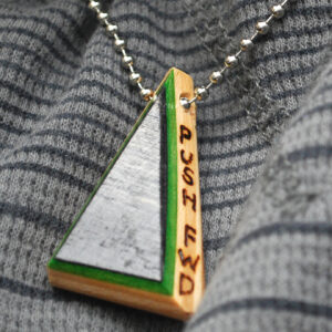 recycled skateboards, jewelry, necklace
